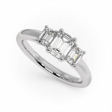 Three stone diamond ring.